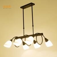 Luces de navidad свет лампы творческая кратким подвесной стеклянный абажур лампы светильники внутреннего освещения чердак лампы деревянный