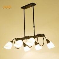 luces de navidad lights lamp creative concise pendant lamp GLASS lampshade lights indoor lighting loft lamps wooden