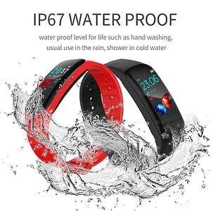 Image 3 - LIGE Bracelet intelligent femmes IP67 étanche Fitness Tracker 1.14 grand écran tension artérielle moniteur de fréquence cardiaque pour Android ios