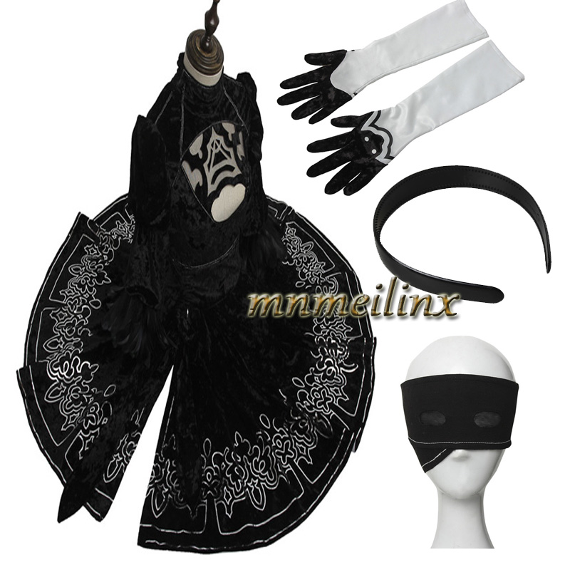 HOT Game NieR:Automata YoRHa No. 2 Type B Cosplay Costume Any Size Dress Accessories Halloween Clothes Custom Made Full Set Suit