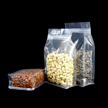 100Pcs Big Capability Food Moisture-proof Bags,Clear Bags Stand Up Pouch, Flat Bottom Packaging Bags for Snack Cookies Baking 100pcs opp transparent flat mouth stand up bag snack bread baking packaging plastic gift candy packaging bags