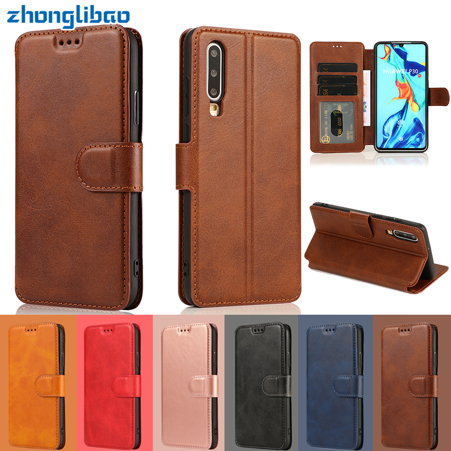 P30 Pro Flip Case for Huawei P30 P20 <font><b>Mate</b></font> <font><b>20</b></font> 10 Pro <font><b>Lite</b></font> P Smart Plus Y5 Y6 Y7 Y9 2019 Honor <font><b>20</b></font> Leather Card Wallet Stand Cover image