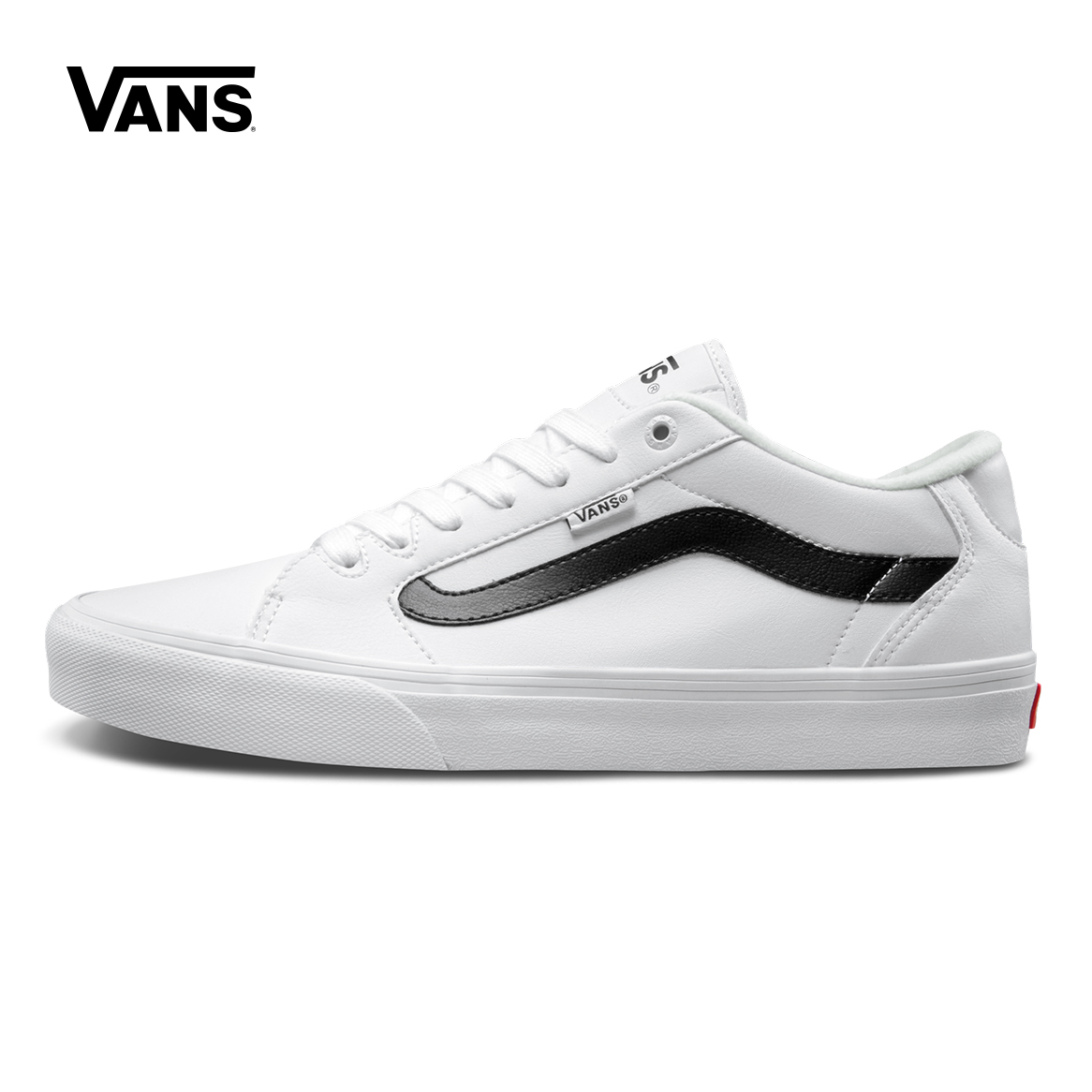 White Black Color Vans Shoes Men's Active Faulkner Low-top Skateboarding Shoes Sport Leather Stitching Vans Sneakers VN000SJVPX9 цена 2017