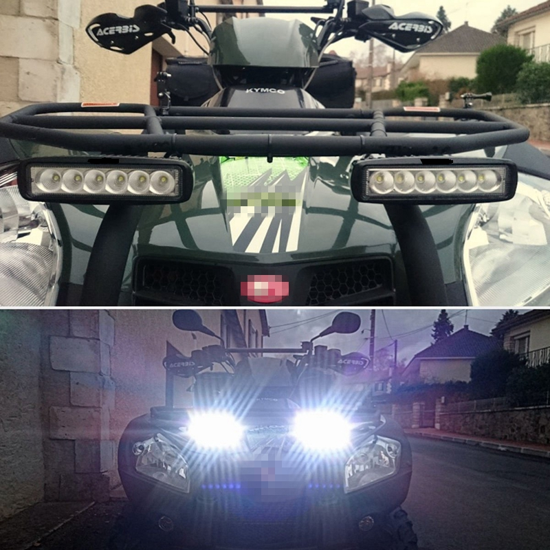 LED Work Light Bar for Indicators Motorcycle Driving Offroad Boat Car Tractor Truck 4x4 SUV ATV 12V auxbeam 44 576w cree chip led head light bar 6000k offroad work light for atv utv suv rzr pickup boat car driving led bar 3 row