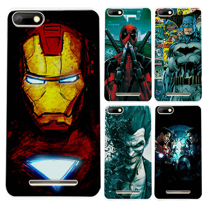 Soft TPU Capa For BQ Strike BQS 5020 Case Charming Marvel Avengers Captain America Iron man Perfect Fundas For BQ Strike BQS5020