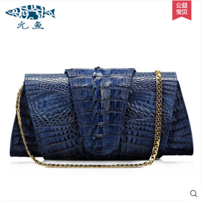 yuanyu 2018 new hot free shipping Import crocodile women chain bag fashion leather single shoulder bag small  dinner packages yuanyu new crocodile wallet alligatorreal leather women bag real crocodile leather women purse women clutches
