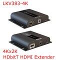 LKV383-4K 4 К * 2 К HDbitT HDMI Extender до 120 м LAN Повторитель над CAT5/5e/6 ИК Передает HDMI V1.4 HDCP 1.4 Отправитель Получатель