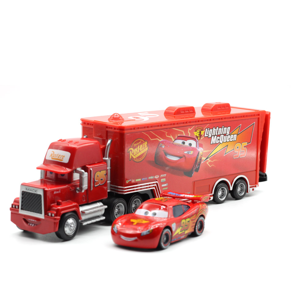 Disney Pixar Cars 2 3 No 95 Lightning McQueen Mack Truck Uncle Diecast Toy Car 1 55 Loose Brand New In Stock Free Shipping in Diecasts Toy Vehicles from Toys Hobbies