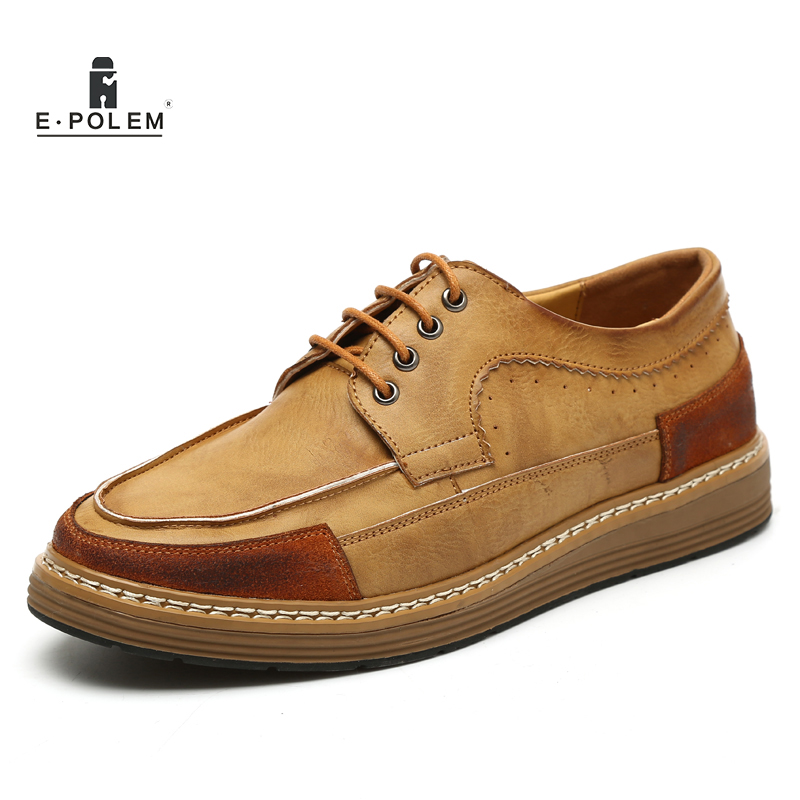 Men Breathable Oxford Shoes Genuine Leather Mens Casual Shoes Lace Up 2017 Spring Autumn Fashion Vintage Dress Shoes Hot Sale spring autumn new men driving shoes fashion breathable leather casual shoes korean version lace up rubber men shoes z180