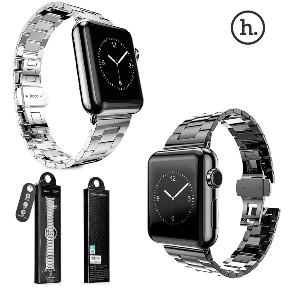 Prix pour Véritable HOCO Mince 316L Acier Inoxydable Butterfly Boucle Montre Bande pour Apple Watch Série 2 et Apple Watch iWatch Poignet sangle
