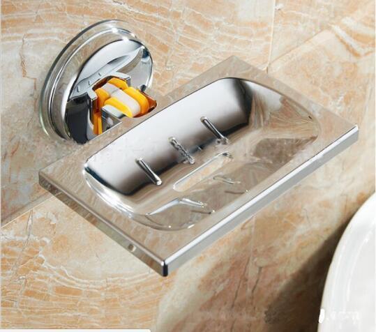 Acciaio Inossidabile Forte Aspirazione Doccia Portasapone Bagno Soap Box Portasa