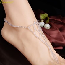 Diomedes Newest Creative Diomedes Women Anklets Barefoot Bridal Beach Crystal Elastic Foot Jewelry Anklet Chain Trendy Choose