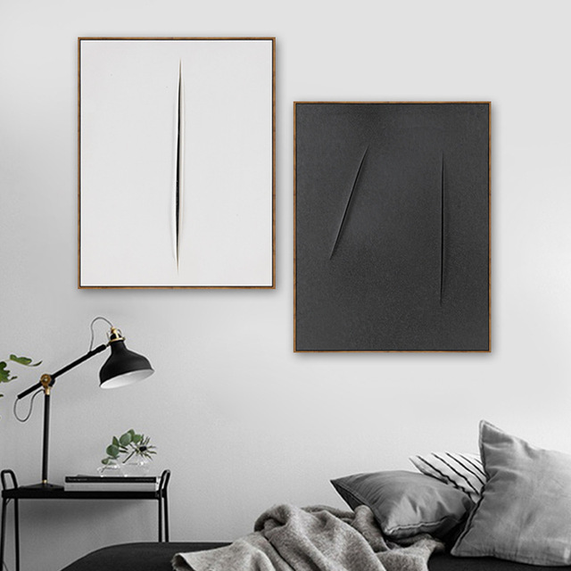 Nordic black and white abstraction entrance decorative painting home living room sofa mural simple atmospheric stair painting
