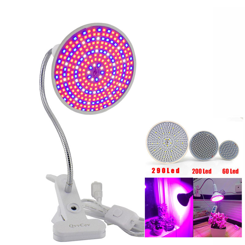 36 60 200 led grow light Hydroponic lighting Clip plants Lamps for flower hydroponics system indoor garden greenhouse seeding(China)