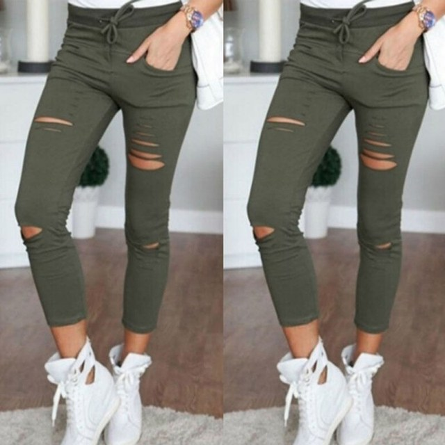 Women's Distressed Jeans Legging