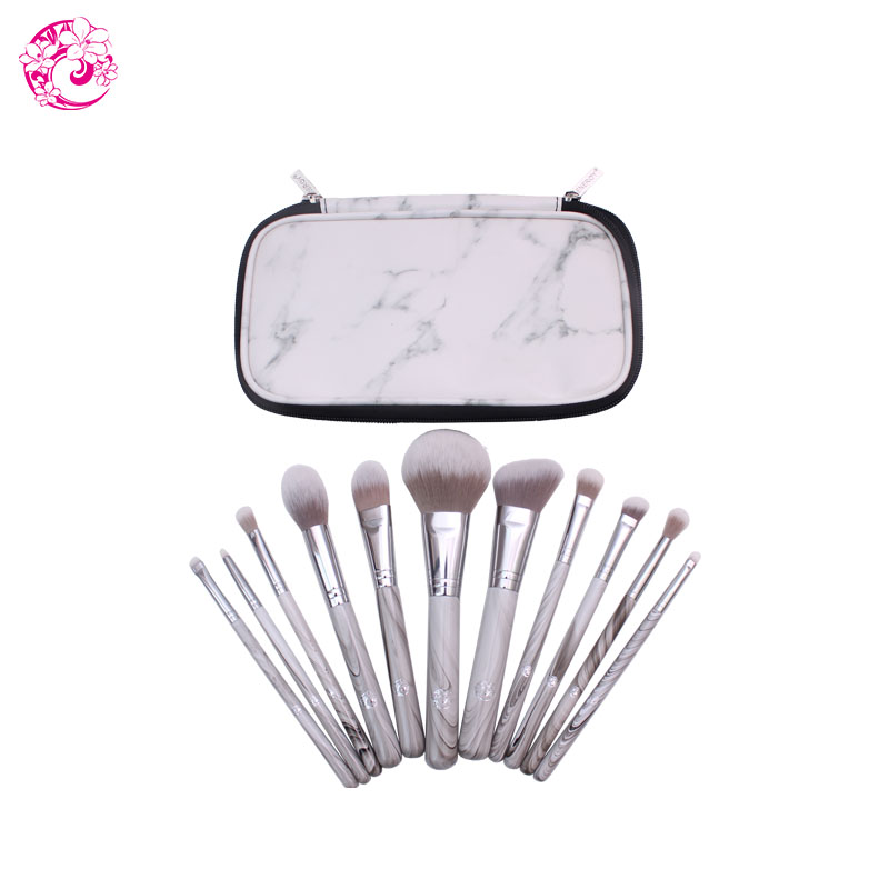 ENERGY Brand Professional 11pcs Makeup Nylon Hair Brush Set Make Up Brushes +Bag Brochas Maquillaje Pinceaux Maquillage dls0 energy brand weasel small eyeshadow contour brush make up makeup brushes pinceaux maquillage brochas maquillaje pincel m108