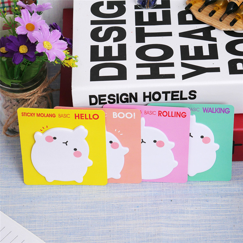 Korean Cartoon Rabbit Sticky Notes Creative Post Notepad Filofax Memo Pads Office Supplies School Stationery Scratch 1 Piece