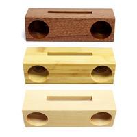 Suporte de madeira de bambu inovador do suporte do amplificador de som do telefone celular suporte de madeira com amplificador de som