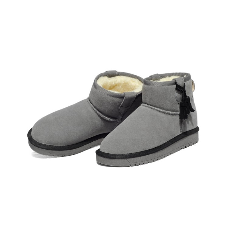 Neve stivali di Cuoio genuini zapatos mujer Stivaletti per le Donne Inverno Stivali botas femininas Scarpe Invernali SN361 80-in Stivaletti da Scarpe su  Gruppo 3