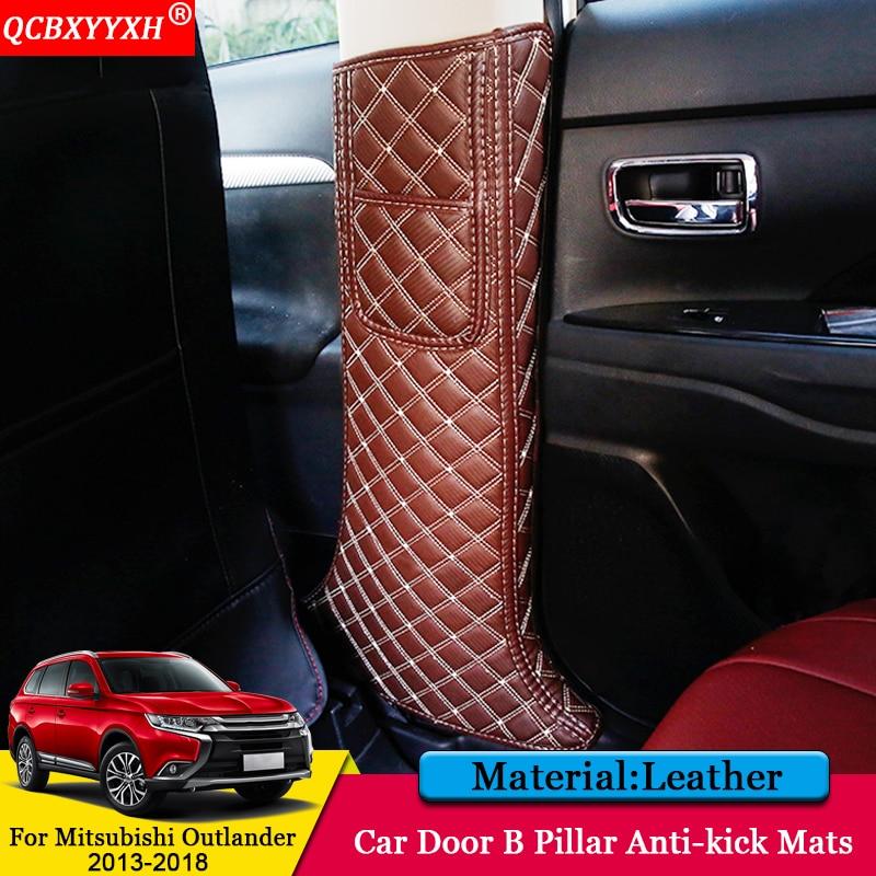 QCBXYYXH Car styling Interior Protector Side Edge Protection Pad Door B Pillar Anti kick Mats For