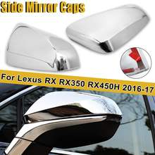 2Pcs/Set Chrome Rearview Side Mirror Cover Caps ABS Trim She