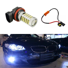 1x H11 H8 светодиодный огни автомобиля светодиодный лампы ДРЛ Противотуманные фары дальнего света без ошибок для BMW E71 X6 M e70 X5 E83 F25 x3