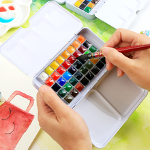 20/40 Color Splited Solid Water Color Paint Set With Book Applied For Drawing Watercolor Pigment Painting Art Supply недорго, оригинальная цена