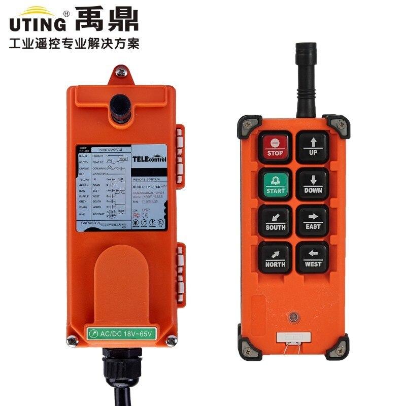 TELECRANE беспроводной промышленных дистанционное управление Лер электрический пульт дистанционного управления лебедкой 1 передатчик + приемн...