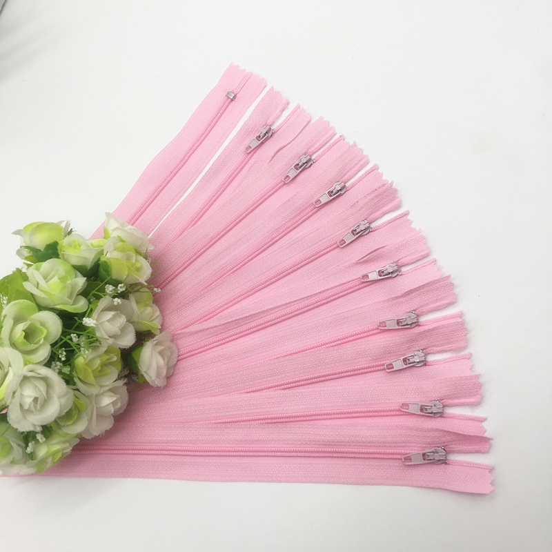 10 шт. 8 дюймов(20 см) нейлоновая катушка молнии портной шитье ремесло аксессуары для одежды Crafter's DIY Одежда Подушка инструмент портного - Цвет: Pink