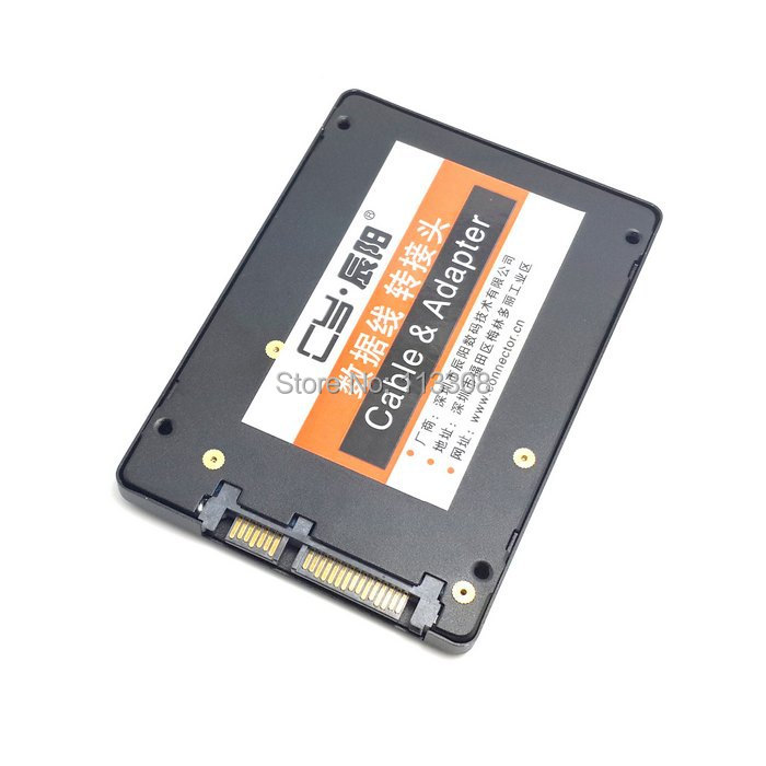 50pcs / lots Mini PCI-E mSATA SSD to 2.5 SATA Hard Disk Enclosure Case Adapter Aluminum Alloy Shell Black , By Fedex DHL UPS 20pcs lot 2sd1760 d1760 to252