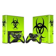 Protecteur de autocollant de peau de vinyle pour Xbox 360 E pour Microsoft Xbox 360E Style Biohazard avec 2 pièces autocollants de peaux de contrôleurs