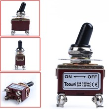 цена на Toggle Switch DPST Heavy Duty 20A 125V 15A 250VAC On Off 2 Position 4 Term 4Pin 4P Self Locking Toggle Switches On-Off With Boot