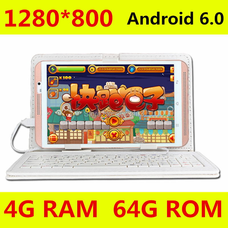 8 inch tabletcomputer Octa Core M880 Android 6.0 tablet-pc's 4G LTE mobiele telefoon android Rom 64GB tablet pc 5MP IPS