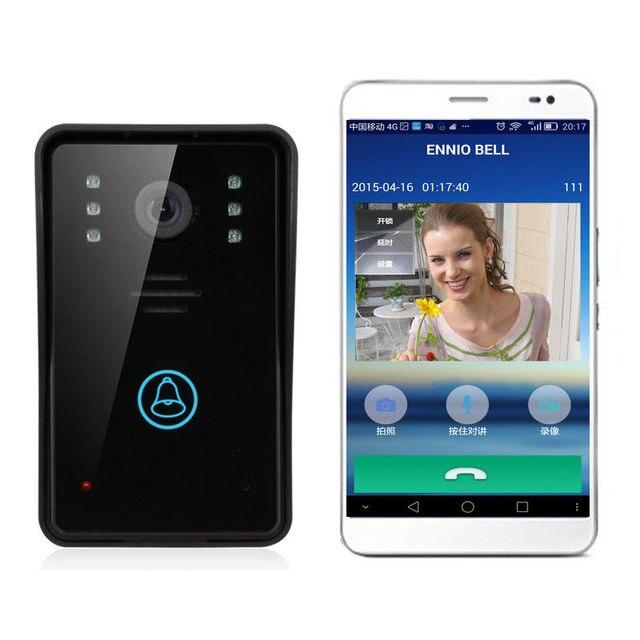 Free shipping!ENNIO WiFi Remote Video Camera Door Phone Rainproof Intercom Doorbell Night IR