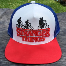 a43691ca1f89d Adult s Stranger Things Dustin Hat RED Trucker Baseball Mesh Cap Adjustable  Hat Hip Hop Hat Snapback Costumes Cosplay