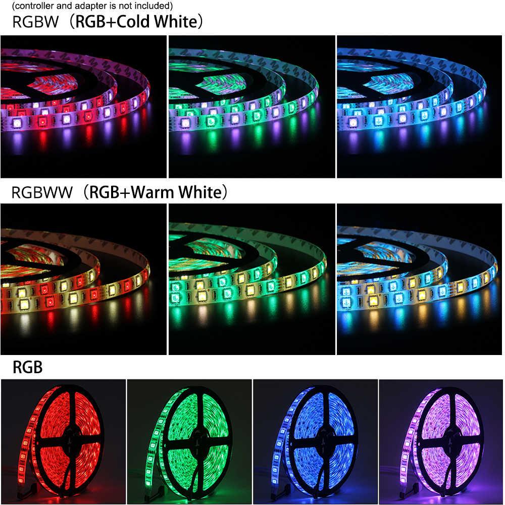DC12V 5 M taśmy LED 5050 RGB, RGBW, RGBWW 60 diod LED/m elastyczne światło 5050 LED taśmy RGB biały, ciepły biały, czerwony, niebieski, proszę kliknąć na zielony