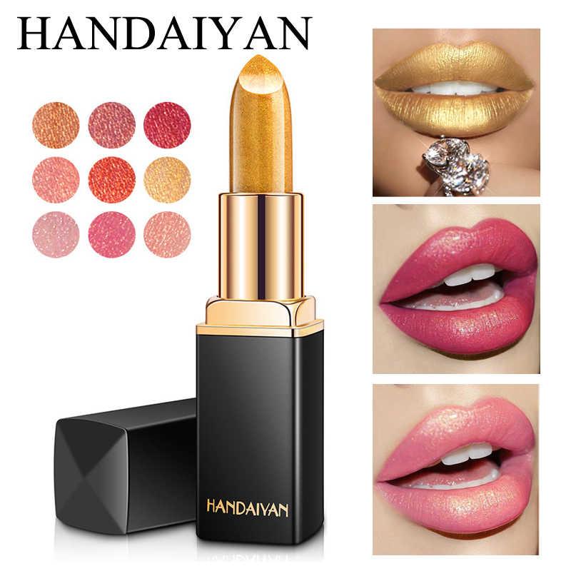 Фирменный Профессиональный Макияж для губ, водостойкая блестящая стойкая пигмент, телесный, розовый, Русалочка, блестящая помада, роскошный макияж, косметика