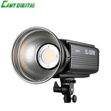 Godox SL-200W 200W 5600K CRI 93+ 16 Channels LED Studio Continous Video Light with Bowens Mount For DSLR Camera+Remote Control