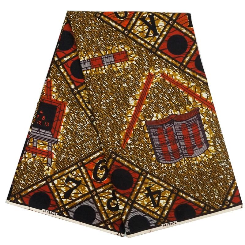 ABC design 6yards fashion African ankara fabric african wax print fabric super wax hollandais tissue wax real wax print