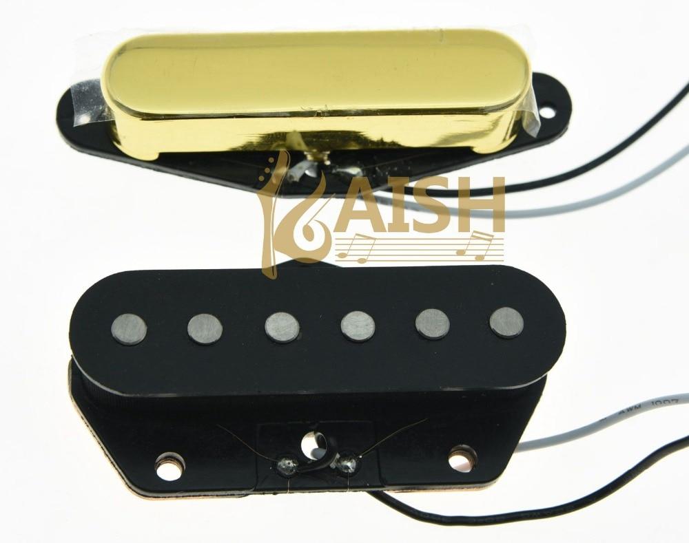 ФОТО Set of 2 Vintage Sound Pickup Alnico 5 Tele Pickups Set Fits for Telecaster Gold