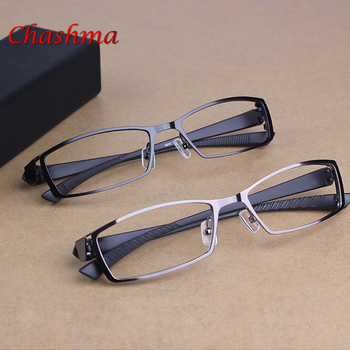 2017 Men's Business Leisure Titanium Alloy Optical Glasses Frame Brand Design TR90 Myopia Prescription Eyeglasses oculos de grau