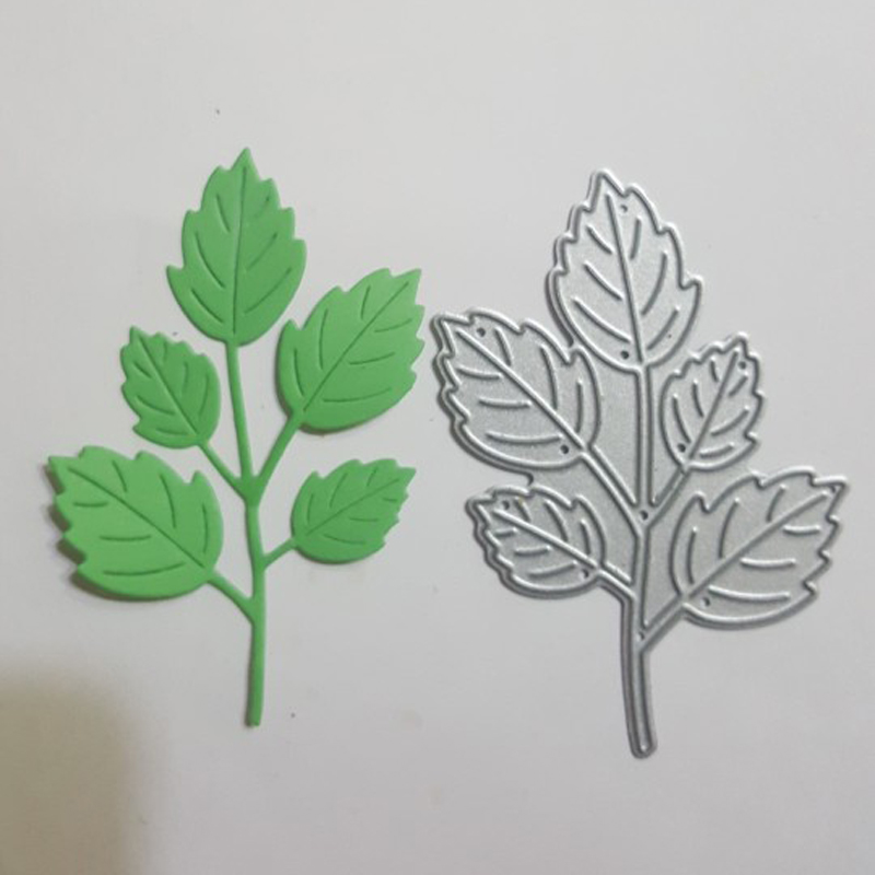 Estel Tree Leaf Metal Cutting Dies Stencils for DIY Scrapbook Photo Album Paper Card Decorative Craft Embossing Die Cuts(China)
