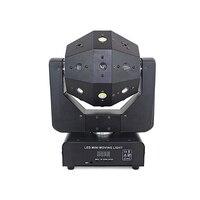 Светодиодный фонарь с движущейся головкой 16 шт., лампа с четками лазерного стробоскопа 3 в 1 бесконечное вращение для дискотечный светодиод