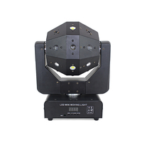 LED Moving Head Light with 16Pcs Lamp Beads Laser Strobe Beam 3 In 1 Infinite Rotation for Disco Led Stage Shows Party Show