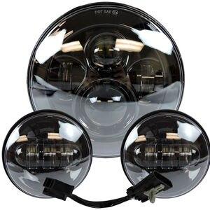 """Image 5 - פנס עבור אוניברסלי אופנוע חלקי 7 """"LED מנוע פנס 4.5"""" 4 1/2 אינץ עובר אור להארלי סיור softail קלאסי"""