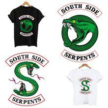 Riverdale southside sweatshirt patch eisen auf patches anwendung von einem bügeln druck für kleidung streifen auf kleidung aufkleber