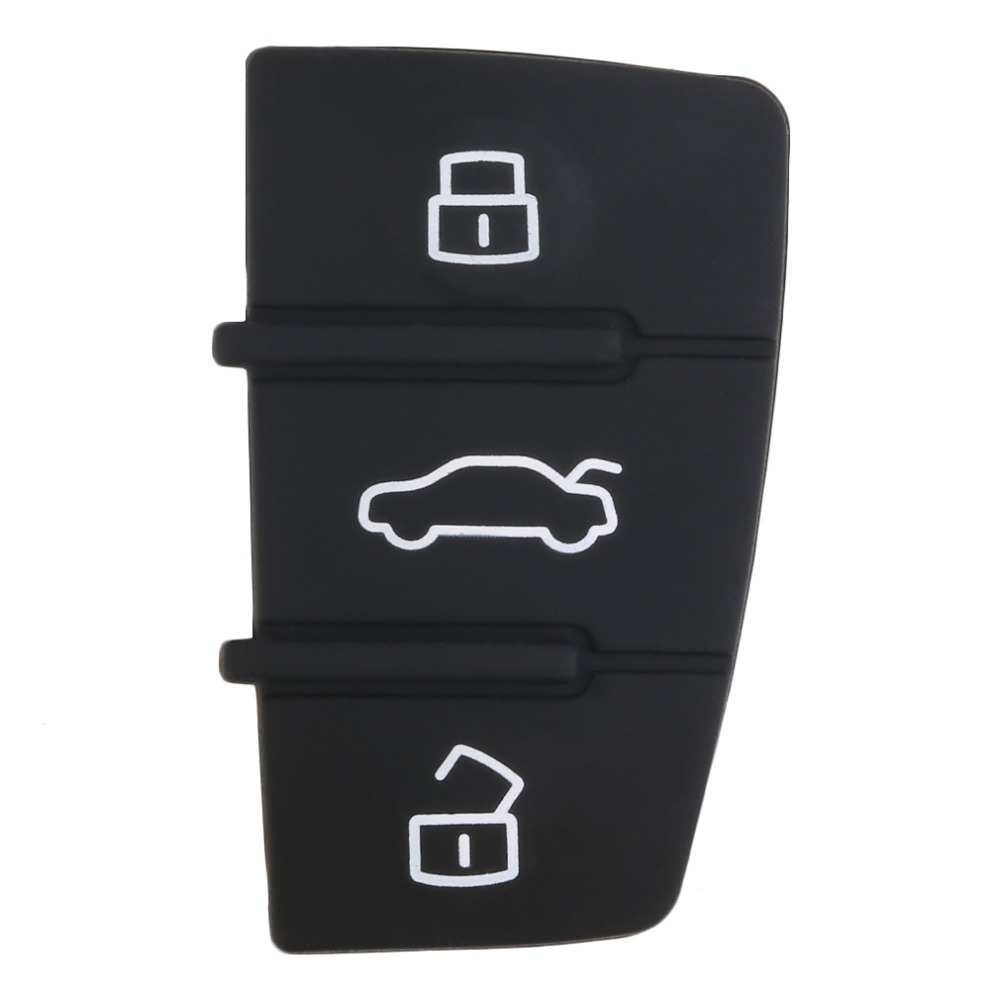 3 Button Replacement Pad Rubber Remote Key Fob For Audi A3 A4 A5 A6 A8 Q5 Q7 TT S LINE RS