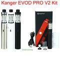 100% Оригинал Электронной Сигарета Комплект Kangertech EVOD PRO V2 Starter Kit 2500 мАч мод батареи 4 мл Верхний заполняя Kanger Все в одном Комплекты YY