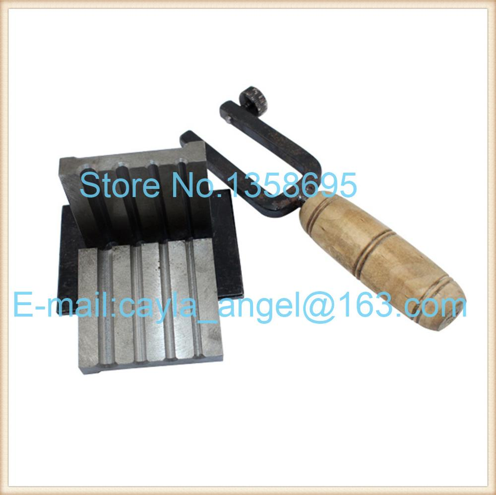 Iron trough cylindrical sump casting gold / silver copper jewelry circular columns forming equipment Golds tools