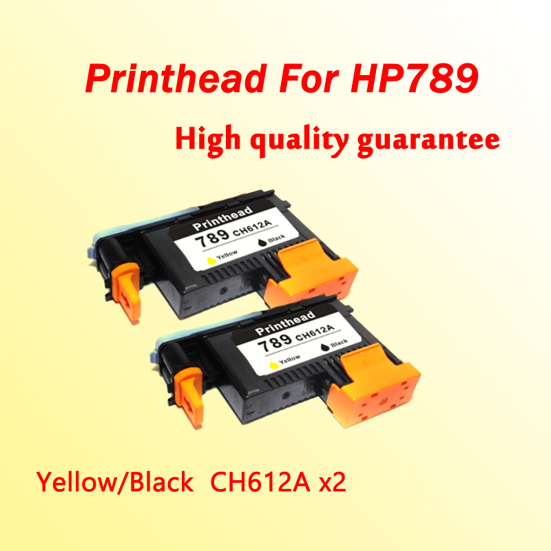 2pcs printh head for hp789 CH612A Yellow/Black for hp 789  L25500 printer  1x 789 printhead yellow black for hp 789 l25500 printer head ch612a